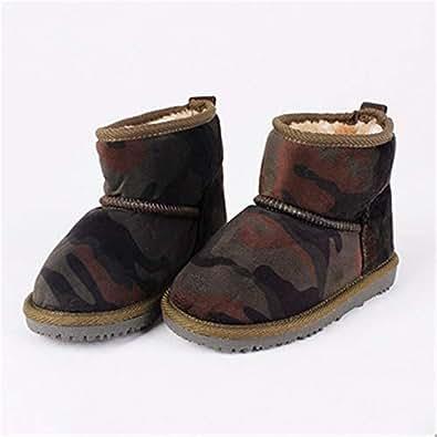 Amazon.com: Boy's Girl's Snow Boots Winter Warm Fur Lined
