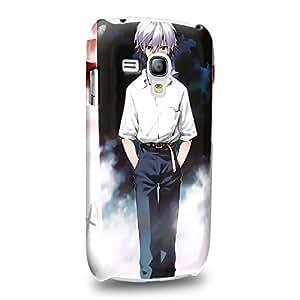 Case88 Premium Designs Neon Genesis Evangelion Kaworu Nagisa 1130 Protective Snap-on Hard Back Case Cover for Samsung Galaxy S3 mini