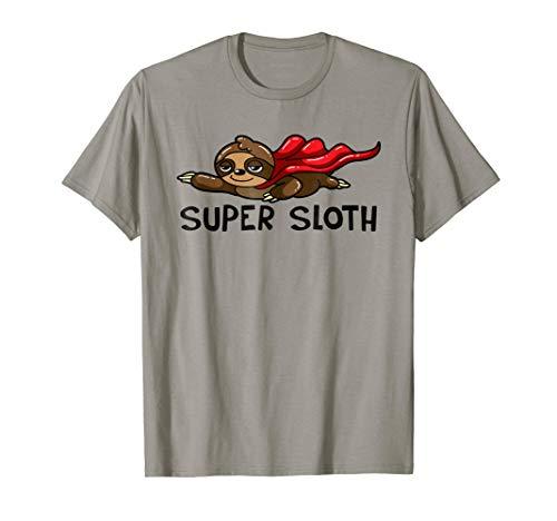 Funny Superhero Costume (Super Sloth T-Shirt Funny Superhero)