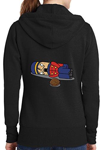Womens Nut Cracker Full Zip Hoodie, Black, 4X