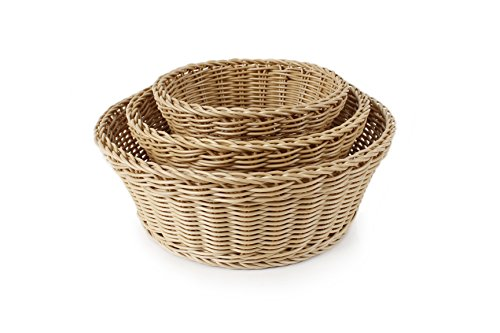 Poly Basket - Neoflam 3-Piece Plasket Poly-Wicker Round Baskets Set