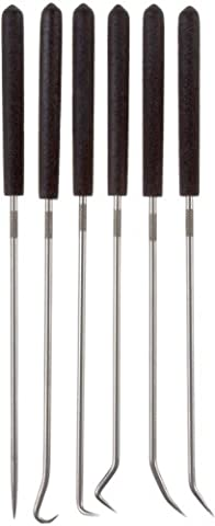 Ullman CHP6-L, 6 Piece Hook and Pick Set, overall length 9 3/4 inches - Wire Pick