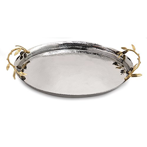 Tray Oval Deep - Michael Aram Olive Branch Oval Serving Tray