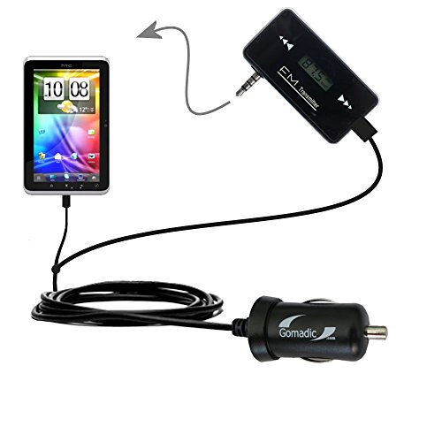 High Quality 3rd Gen FM Transmitter with Micro Rapid Car Charger compatible with the HTC Flyer (Transmitter Flyer)