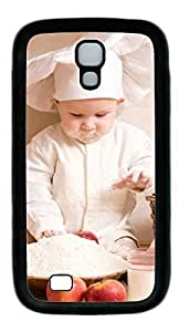 Baby chef Masterpiece Limited Design DIY TPU Black Case for Samsung Galaxy S4 I9500 by Cases & Mousepads