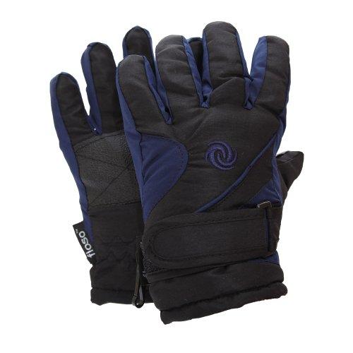 FLOSO® Thermo Kinder Skihandschuhe (9-12 Jahre) (Marineblau / Schwarz)