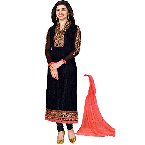 (Designer Wedding Partywear Embroidered Salwar Kameez Georgette India)