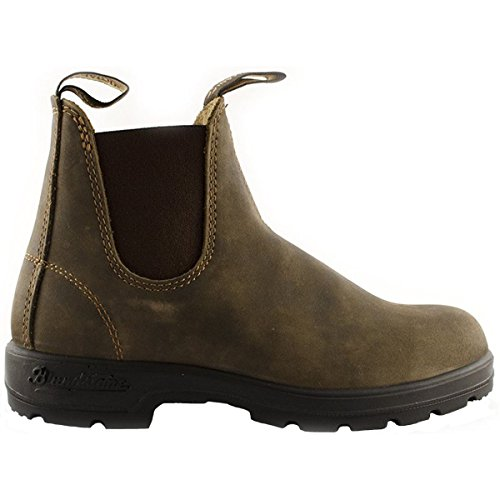 Blundstone Unisex 585 Rustic Brown Chelsea Boot - 6 - Wrap Lined Leather
