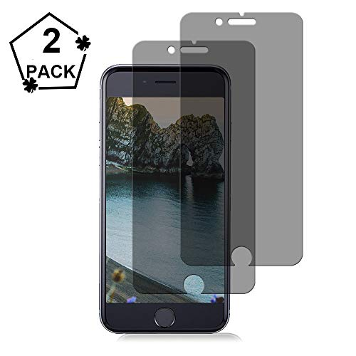 [2-Pack] iPhone 8/7/6 Privacy Screen Protector Loopilops Premium Anti-Spy Tempered Glass Film Compatible with iPhone 8/7/ 6 4.7 Inch-Anti-Spy
