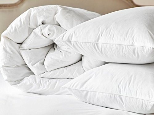Non-Allergenic Soft Polycotton Hollowfibre Duvet Quilt With Pair of Pillows Bundle (All Sizes & Togs) By CosySleep® Double 10.5 + Pair of Pillows
