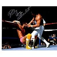 $22 » RICKY THE DRAGON STEAMBOAT WWE WWF AUTOGRAPH 8X10 PHOTO WM 3 VS MACHO MAN RANDY SAVAGE