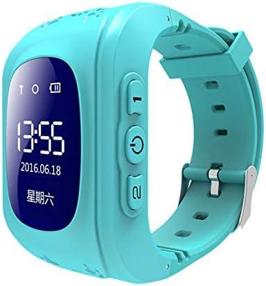 TOOGOO Q50 OLED Ni?os GPS Seguidor Sos Posicionamiento para Ni?os GPS Reloj de Bebé Compatible Azul