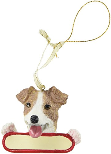 Jack Russell Terrier Dog Santa's Pal Christmas Ornament
