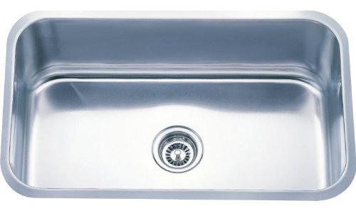 Dowell Undermount Single Bowl 18 Gauge Kitchen Stainless Steel Sinks (6001 3018) by Dowell by DOWELL