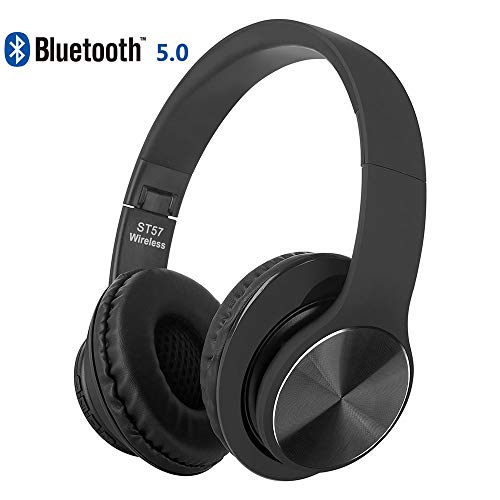 GDDGKM123 Earbud Headphones Bluetooth Headset, Hi-Fi Stereo Wireless Headset, Foldable, Soft Earmuffs, with Built-in Microphone and Wired Mode for PC Mobile TV iPhone Samsung Huawei
