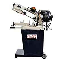 Bolton Tools BS-128HDR Horizontal/Vertical Bandsaw With Swivel Head 5 Inch x 6 Inch Metal Cutting Portable Band Saw