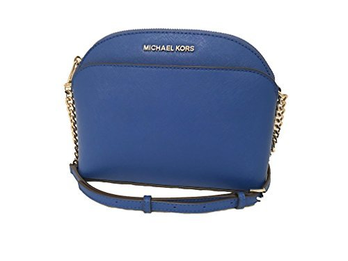 MICHAEL KORS EMMY ELECTRIC BLUE SAFFIANO LEATHER CROSSBODY BAG by Michael Kors (Image #1)