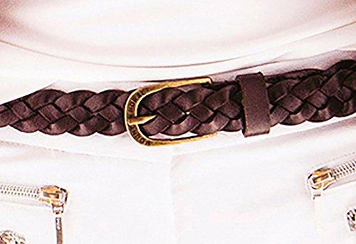 Caballo de montaña MH elegante y durable metal hebilla de piel Rider Cinturón Talla Única, Clasic Brown