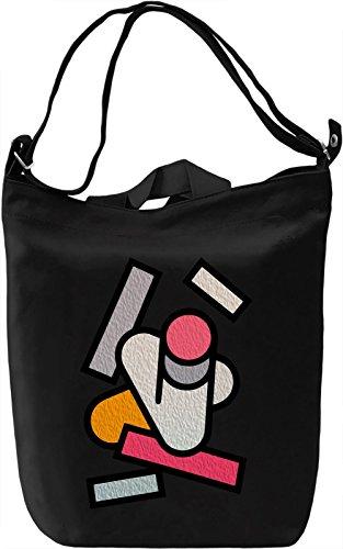 Modern Vibes Borsa Giornaliera Canvas Canvas Day Bag| 100% Premium Cotton Canvas| DTG Printing|