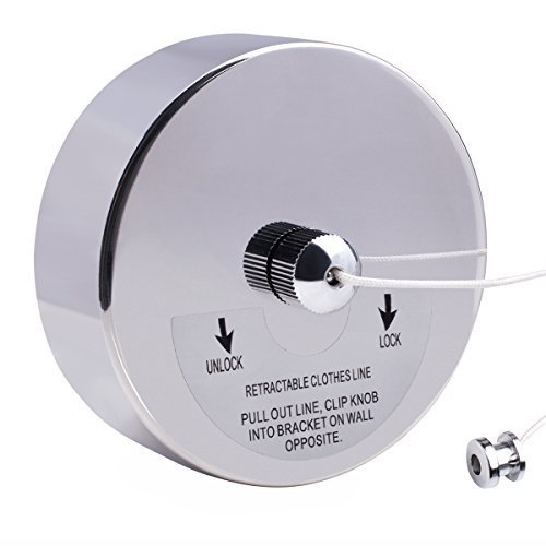 VDOMUS Stainless Steel Retractable Clothesline