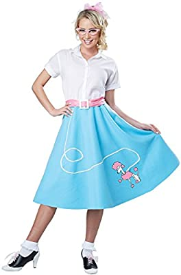 California Costumes Womens Blue 50's Poodle Skirt