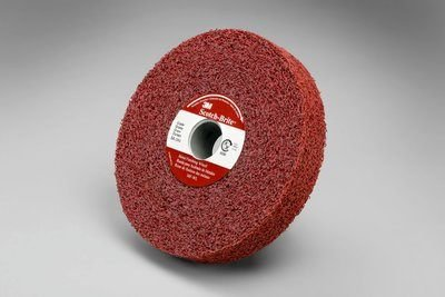 3M (MF-WL) Metal Finishing Wheel, 6 in x 1/2 in x 1 in 5A MED [You are purchasing the Min order quantity which is 4 Wheels] by 3M