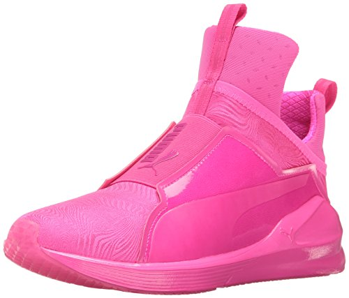 PUMA Women's Fierce Bright Cross-Trainer Shoe, Pink Glo/Pink Glo, 9 M US (Women Pink Puma Shoes)