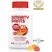 SmartyPants Daily Kids  Multivitamin Gummies: Vitamin C, D3, and Zinc for Immunity, Gluten Free, Omega 3 Fish Oil (DHA), Vitamin B6, Methyl B12, 120 Count (30 Day Supply)