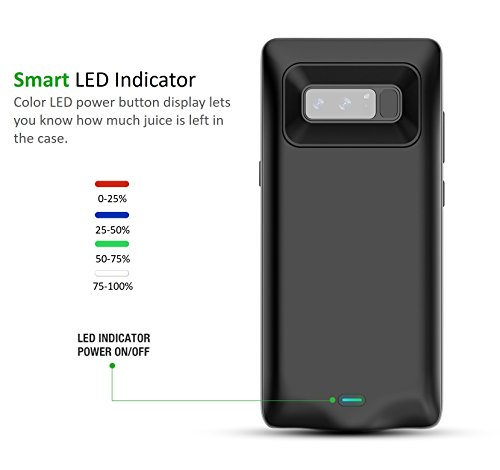 info for e7e94 a41fd BrexLink Galaxy Note 8 Battery Case, 5500mAh Charging - Import It All