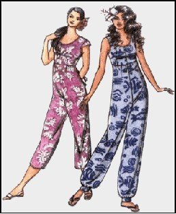 f54844de714 Amazon.com  Hawaiian Jumpsuit   Playsuit Sewing Pattern  306