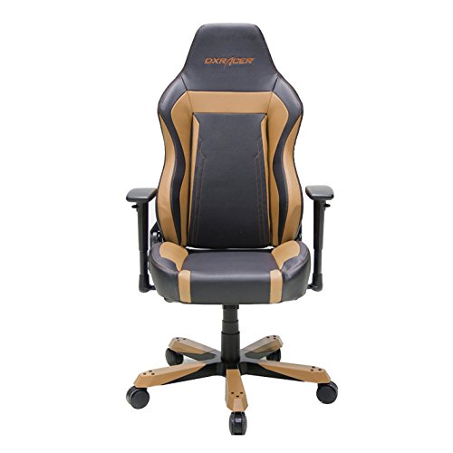 DXRacer OH/WZ06/NC Wide Series Black and Coffee Gaming Chair - Includes 2 free cushions and on frame