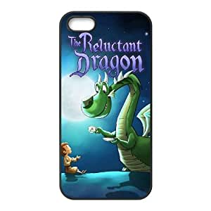 iPhone 5 5s Cell Phone Case Covers Black Reluctant Dragon LTH
