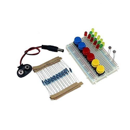 INFORMIC DIY UNO R3 Mini Breadboard LED Jumper Resistor Kit For Basic Arduino Starter Set