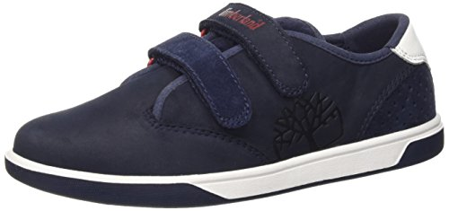 Timberland Groveton_Groveton Plain Toe Oxford, Unisex-Kinder Sneakers, Blau (Navy Naturebuck), 31 EU