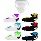 UK Warrior Gum Shield Mouth Guard Gum Guard, Ideal For Contact Sports, Martial Arts, Karate, MMA, Boxing, Hockey, Football, Carry Case and Instructions For Boil & Bite Included