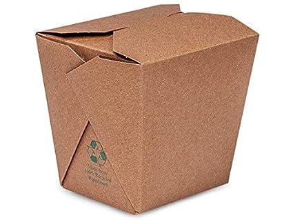 Take Out Box contenedores - 32 oz Kraft reciclado tierra ...