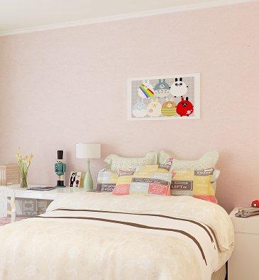 Reyqing Semplice Camera Da Letto Moderno Muro Sfondo,Colore Rosa ...