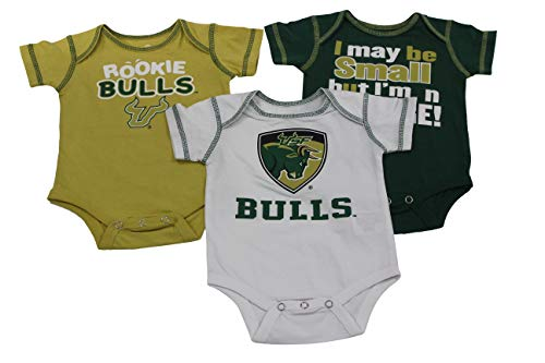 1 Creeper Set (Outerstuff USF Baby Clothing Apparel, Southern Florida University 3 Piece Creeper Set)