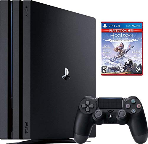 Newest Sony PlayStation 4 PS4 Pro 1TB SSD 4K HDR Gaming Console w/Game | 2160p Resolution | Wi-Fi | AMD Processor | HDMI | AMD Radeon Based Graphics | Include:Horizon Zero Dawn Complete Edition Hits