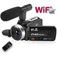 Camcorder Digital Video Camera, WiFi Vlog Camera...