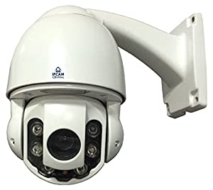 IPCC-9610 V2 - 10x Optical Zoom, AutoFocus, 2.0 MP, Metal, Outdoor, High Speed Dome Camera with Nightvision, Onvif, Synology, QNAP, Blueiris Compatible, White by IPCC