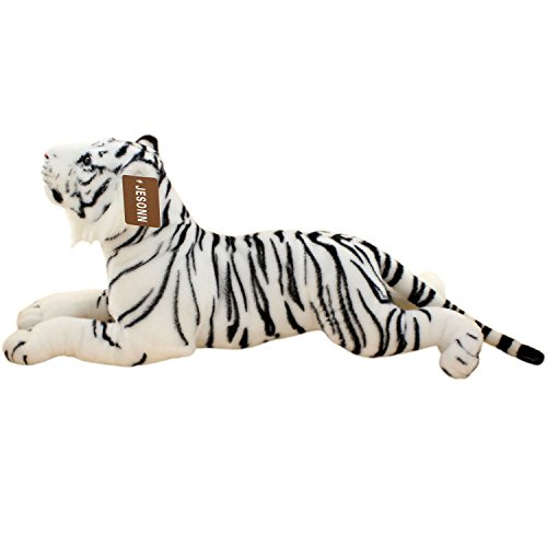 JESONN Realistic Stuffed Animals Grovel Tiger Plush Toys Pillows,23.6