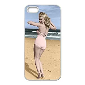 QSWHXN Diy Marilyn Monroe Selling Hard Back Case for Iphone 5 5g 5s