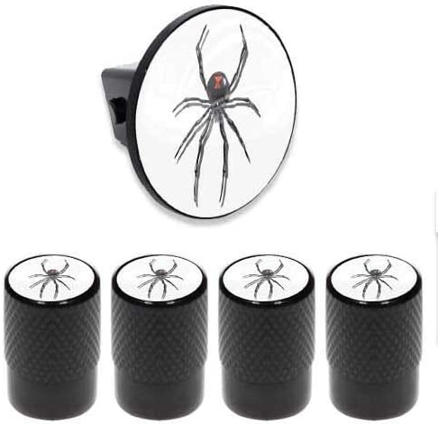 Black Widow Spider WT Cool Tuning Billion/_Store Tow Hitch Cover Insert Plug for Truck /& SUV Valve CAPS