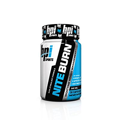 BPI Sports Nite Burn Nighttime Weight Management Formula, 640 MG, 60-Count, Limited Edition, Larger Size, 2 Month Supply