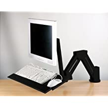 LCD Monitor/Keyboard Extension Stand Wall Mount/Desktop Clamp Black