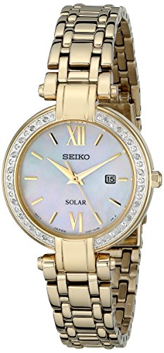 (Seiko Women's SUT182 Analog Display Japanese Quartz Gold Watch)