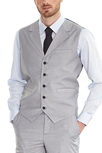 Down Vest Waistcoat (Hanayome Men's Vest 2017 Grey Business Gifts For Boyfriend Turn-Down Collar Waistcoat SI98(Grey,XXXL))