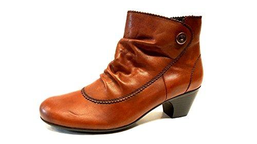 70561 femme RIEKER marron bottines modèle cuir BY8IWn0Wa