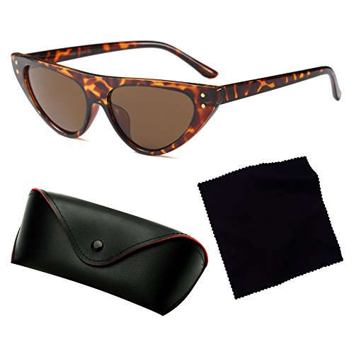 Cat Frame Small hibote Retro Drop Mujeres Glasses Triangle C6 Narrow Eye Sunglasses cCaRcZfWp
